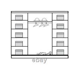 3 Door Sliding Wardrobe 240CM- Laredo Pine/ Sonoma/Mirror. DOME/DO5-24. BRAND NEW