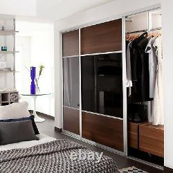 Angled Sliding Wardrobe Doors, glass or wood Bespoke, Made to Measure