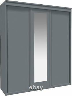 Argos Home Hallingford 3 Door Mirrored Sliding Wardrobe Grey