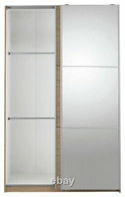 Argos Home Holsted 2 Door Medium Mirrored Sliding Wardrobe Oak Effect