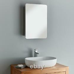 Bathroom Mirror Cabinet Wall Stainless Steel Single 660mm x 460mm Sliding Door