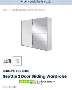 Bensons for Beds Seattle Alpine White 2 Door Sliding Wardrobe
