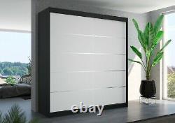 Brand new wardrobe ESTEVA 200cm perfect interior 2 sliding doors Free delivery