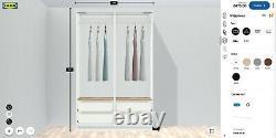 IKEA PAX Double Wardrobe. Sliding Mirrored Door + 4 Deep Drawers. RRP £475