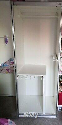 IKEA Pax Double Wardrobe with Sliding Mirror Doors