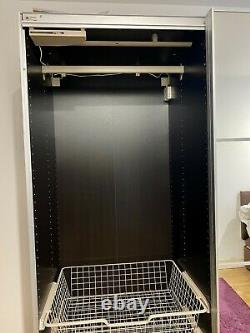 IKEA Pax Sliding Doors, Mirror Glass, Black-brown Wardrobe Frame (150cm width)