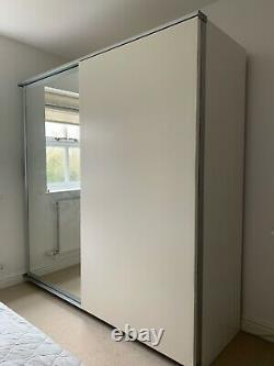 IKEA Pax double wardrobe with sliding doors. Good condition