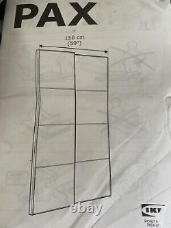 IKEA Pax double wardrobe with sliding mirrored doors panelled