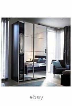 Ikea Pax Wardrobe Mirror Sliding Doors 200x201cm