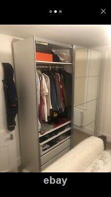 Ikea Pax wardrobe with mirrored sliding doors Super king Size