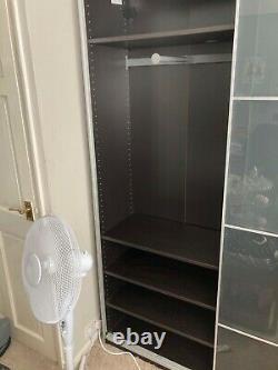 Ikea pax double mirrored wardrobe sliding doors