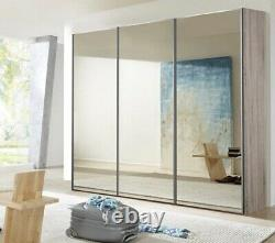 John Lewis & Partners Elstra 250cm Wardrobe Mirrored Sliding Doors w 6 Shelves