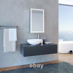 LED Sliding Door Bathroom Mirror Cabinet Shelf Wall Hanging Sensor IP44