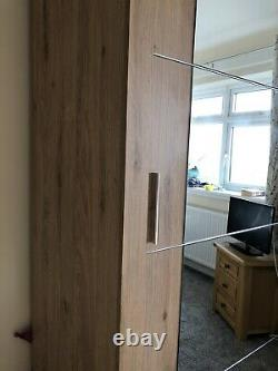 Lenart Arti AR-03 Sliding Door Wooden Oak Classic Bedroom Wardrobe 181cm