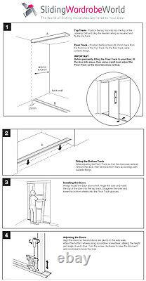 Made to Measure GREY TINTED MIRROR Sliding Wardrobe Doors (inc Tracks & Runners)