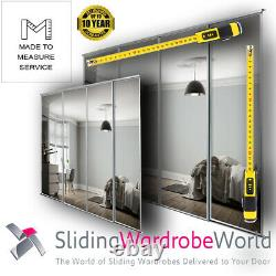 Made to Measure MIRROR SpacePro Sliding Wardrobe Doors & Tracks All Colours
