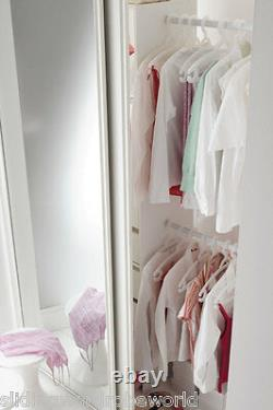 Made to Measure WHITE Framed MIRROR Sliding Wardrobe Doors 4.0m Wide MAX