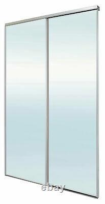Mirrored 2 door twinpack Sliding Glass Wardrobe kit (H)2260mm (W)1500mm Modern