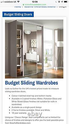 Mirrored Wardrobe Sliding Doors x 4