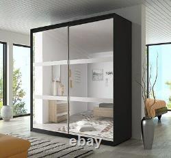 Modern Bedroom Wardrobe Sliding Door 233 Wide Perfect interior FREE DELIVERY