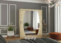 Modern Design High Quality 2 sliding door wardrobe BALI 180cm mirrored
