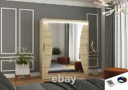 Modern Design High Quality 2 sliding door wardrobe CHARLOTTE 180 wide mirrored