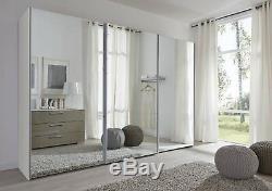 Modern Glass door Komet White German Mirror Sliding Wardrobe Door 2-3m