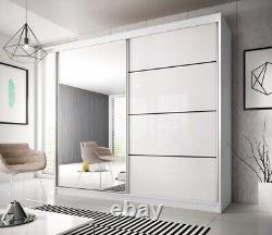Modern High Gloss Multi35 Sliding Door Wardrobe 183/203/233cm
