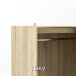 Modern High Gloss White 3 Sliding Door Combi Triple Mirror Wardrobe with Drawers