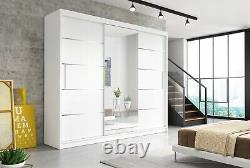 Modern Large Sliding Door Wardrobe Alba 250cm