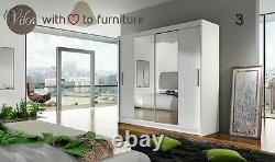 Modern Perfect inerior Wardrobe DALLEN 180 mirrored 2 sliding door bedroom