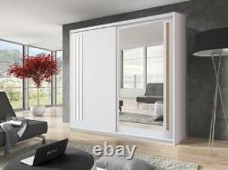Modern Sliding Door Wardrobe Effect 2 Sliding Door Wardrobe 200cm