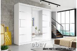 Modern Sliding Door Wardrobe Solid Quality 250 cm width