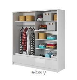 NEW Wardrobe'ARYA I' with Modern Mirror Sliding Doors
