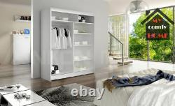 New Modern Wardrobe WENDY 3 With Mirror Sliding Doors width 150cm