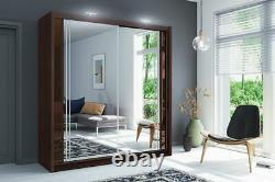 New York 2 Doors Mirrored Sliding Wardrobe Colours- 5 Sizes SEE DESCRIPTION