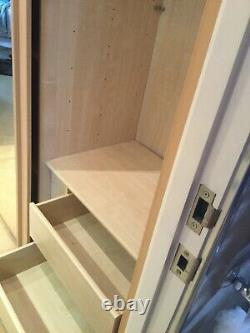 Nolte fitted wardrobe with sliding Mirrored doors (two available)