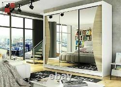 Notsa 4 -3 Sliding Doors, Curved Mirror, Unique Style, Huge Capacity