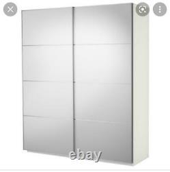 Pax Wardrobe White 200 x 200 Sliding Doors Mirrors Ikea