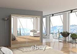 Perfect interior 2 sliding FULLY mirrored doors wardrobe LAGUNA. 200cm W 6,6 Ft
