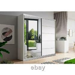 Quality Wardrobe Sliding Doors BONO05 160cm Mirror Hanging Rail Shelves