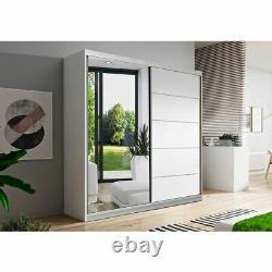 Quality Wardrobe Sliding Doors VISTA05 150cm Mirror Hanging Rail Shelves