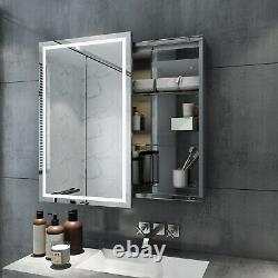 Sliding Door LED Light up Bathroom Mirror Cabinet Shelf Wall Hanging Sensor IP44