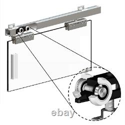 Sliding Glass Door Gear Track System HERKULES Internal Single Door Kit 2m 100kg