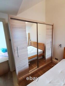 Sliding Mirror Door Wardrobe 2 Door Wardrobe CHEAP DELIVERY TO LONDON
