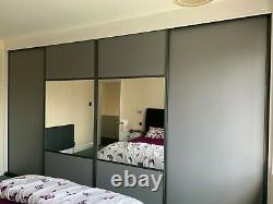 Sliding Wardrobe Door Mirror, Matte or Gloss Made-to-measure Bespoke