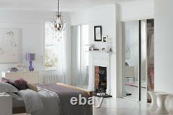 Sliding Wardrobe Doors (Mirrored x 2) & Storage. Up to 1498mm (4ft 11ins) wide
