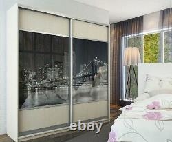Sliding Wardrobe Mirror Gloss Panel Doors. Made To Measure. Custom Design. Print