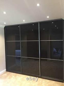 Sliding Wardrobe Mirror Wood Glass Doors. Made To Measure. Aluminium Profile