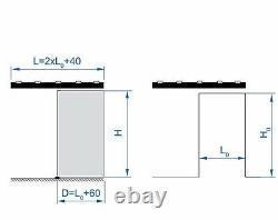 Soft Close Sliding Door Gear Set For Glass Doors With Track Cover Max 80kg Door